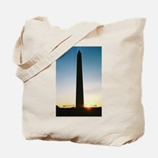 Silhouette of a Monument Tote Bag
