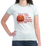 Funny Trick or Treat Hallowee Jr. Ringer T-Shirt