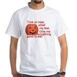Funny Trick or Treat Hallowee White T-Shirt
