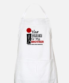 I Wear Grey For My Brother 9 BBQ Apron