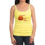 Funny Free Broom Halloween Jr. Spaghetti Tank