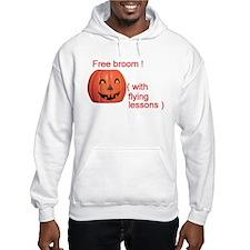 Funny Free Broom Halloween Hoodie