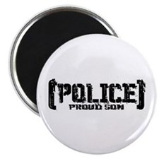 Police Proud Son Magnet