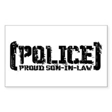 Police Proud Son-in-law Rectangle Decal