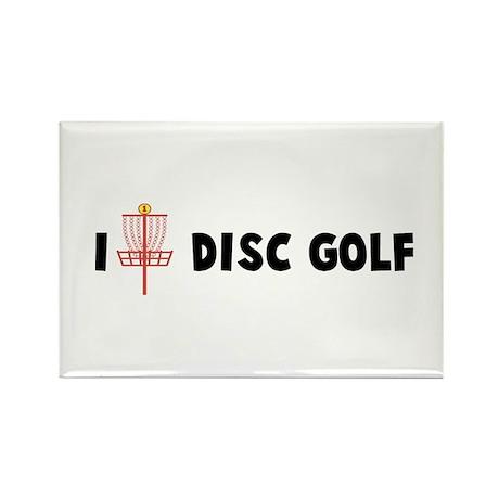 I (Heart) Disc Golf Rectangle Magnet