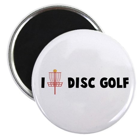 I (Heart) Disc Golf Magnet