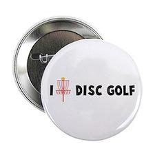 """I (Heart) Disc Golf 2.25"""" Button"""
