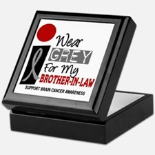 I Wear Grey For My Brother-In-Law 9 Keepsake Box