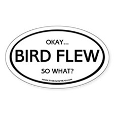 Bird Flew Oval Decal