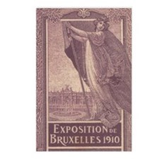 Belgium Brussels expo 1910 Postcards (Package of 8