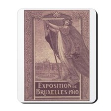 Belgium Brussels expo 1910 Mousepad