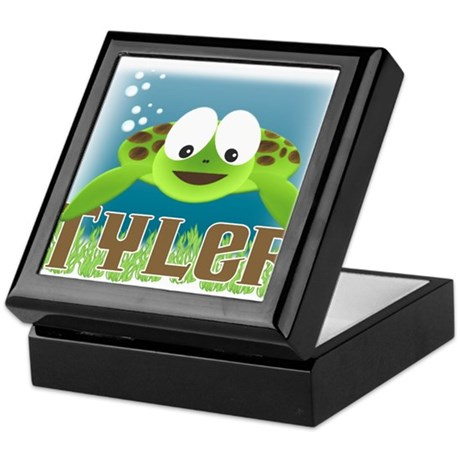 Adorable Tyler Turtle Keepsake Box