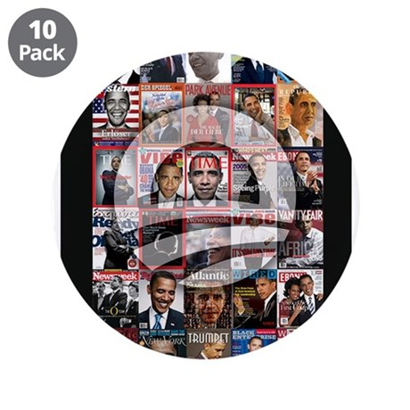 """Obama Mag. 3.5"""" Button (10 pack)"""