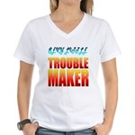 """Sexy Little Troublemaker"" Women's V-Nec"