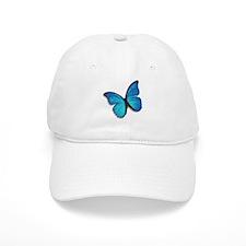 Blue Morpho Butterfly Baseball Cap