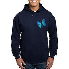 Blue Morpho Butterfly Hoodie