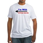 I'm With Clown Fitted T-Shirt