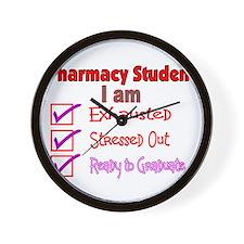 Pharmacy Student Wall Clock