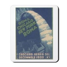 Rome Chicago NY 1933 Mousepad