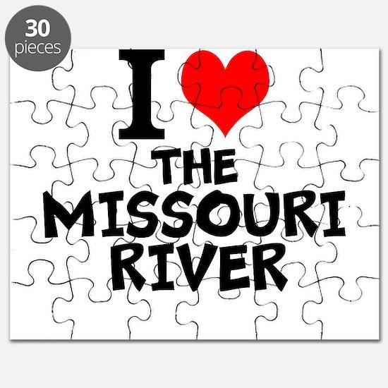 I Love The Missouri River Puzzle
