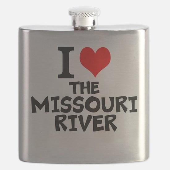 I Love The Missouri River Flask