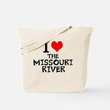 I Love The Missouri River Tote Bag