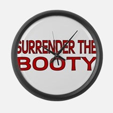 Surrender the Booty 1 Large Wall Clock