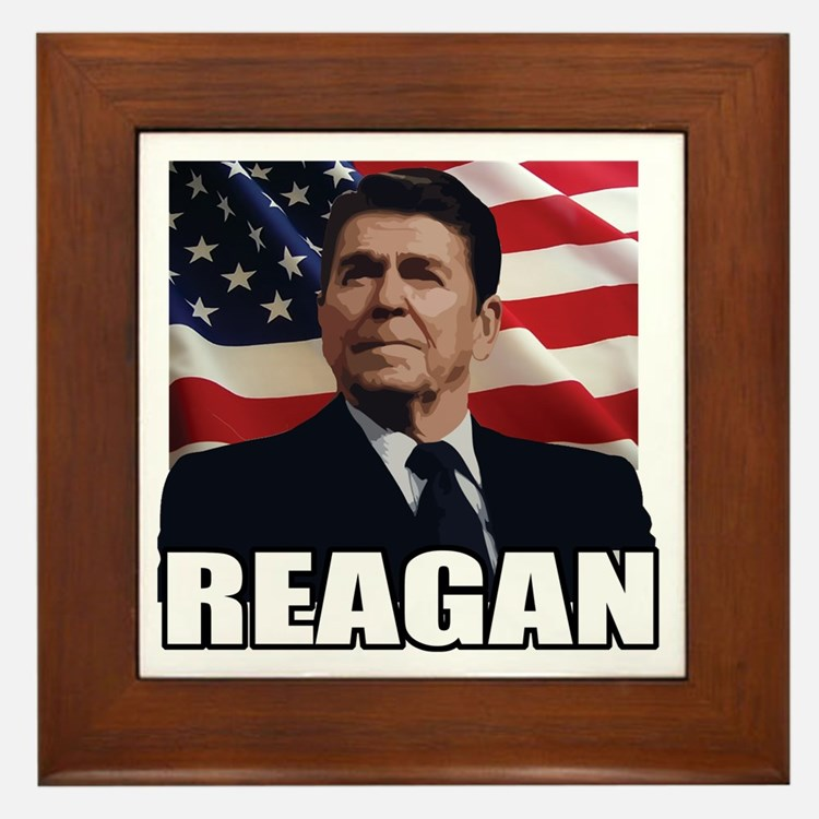 Ronald Reagan Framed Tile