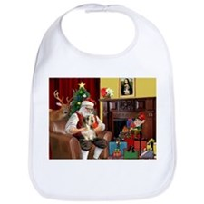 Santa's Petit Basset Bib