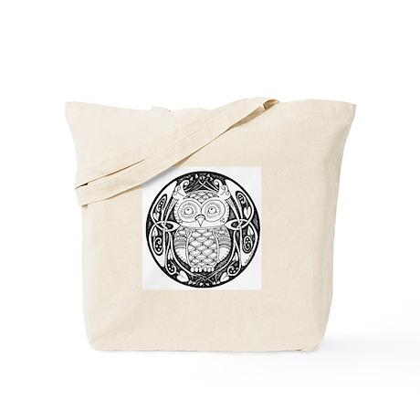 Knotwork Owl Tote Bag