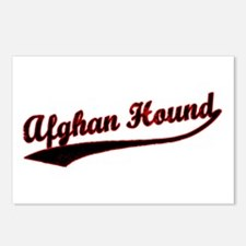 Afghan Hound Varsity Postcards (Package of 8)
