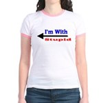 I'm With Stupid Jr. Ringer T-Shirt