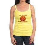 Funny Eat My Pumpkin Hallowee Jr. Spaghetti Tank