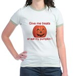 Funny Eat My Pumpkin Hallowee Jr. Ringer T-Shirt