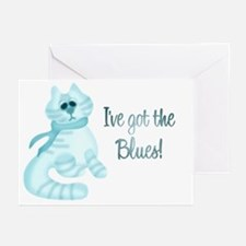 Blues Kitty Greeting Cards (Pk of 10)