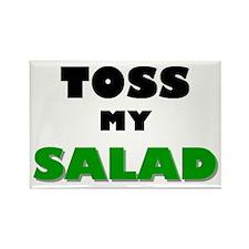 Toss My Salad Rectangle Magnet