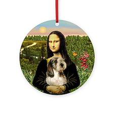 Mona Lisa's PBGV Ornament (Round)