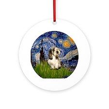 Starry Night PBGV Ornament (Round)