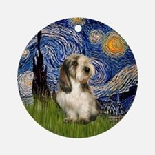 Starry Night PBGV Ornament (Round)