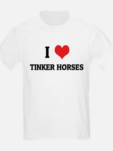 I Love Tinker Horses Kids T-Shirt