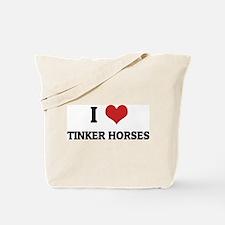 I Love Tinker Horses Tote Bag