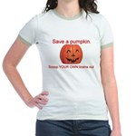 Funny Save A Pumpkin Jr. Ringer T-Shirt
