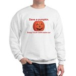 Funny Save A Pumpkin Sweatshirt