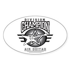 Air Guitar Champion Oval Decal