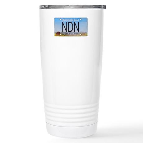 North Dakota NDN Pride Stainless Steel Travel Mug