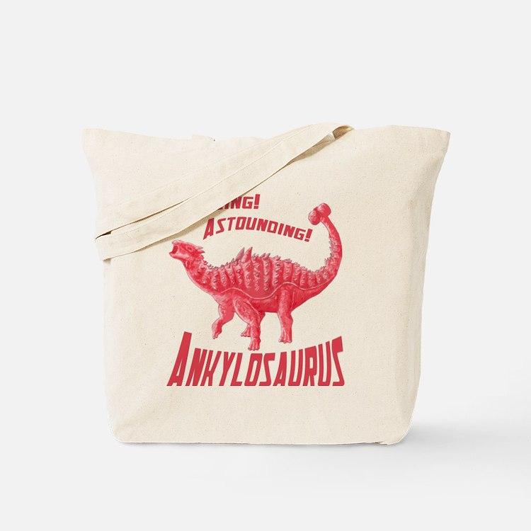 Red Ankylosaurus Tote Bag