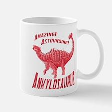 Red Ankylosaurus Mug