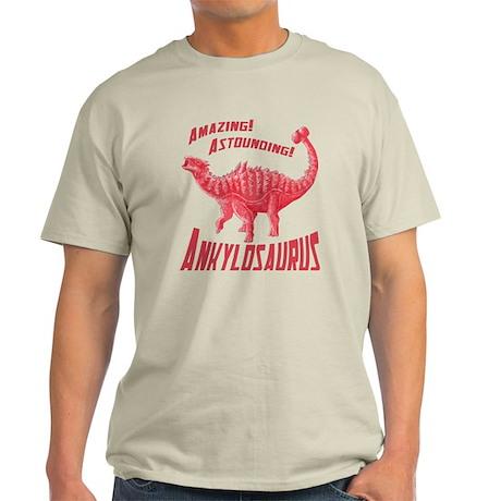 Red Ankylosaurus Light T-Shirt
