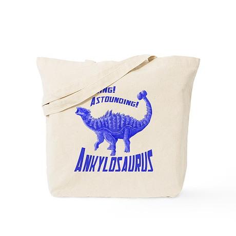 Blue Ankylosaurus Tote Bag