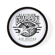 Air Guitar Champion Wall Clock